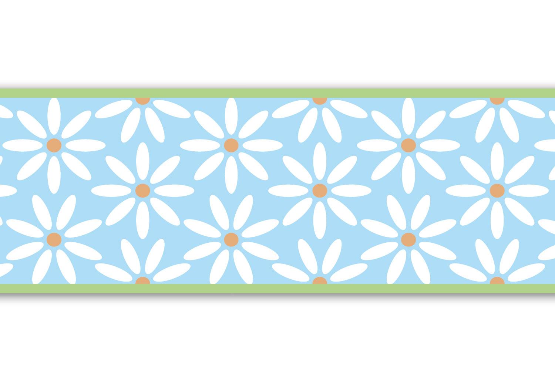 Bordüre Gänseblümchen Wandborde Borde