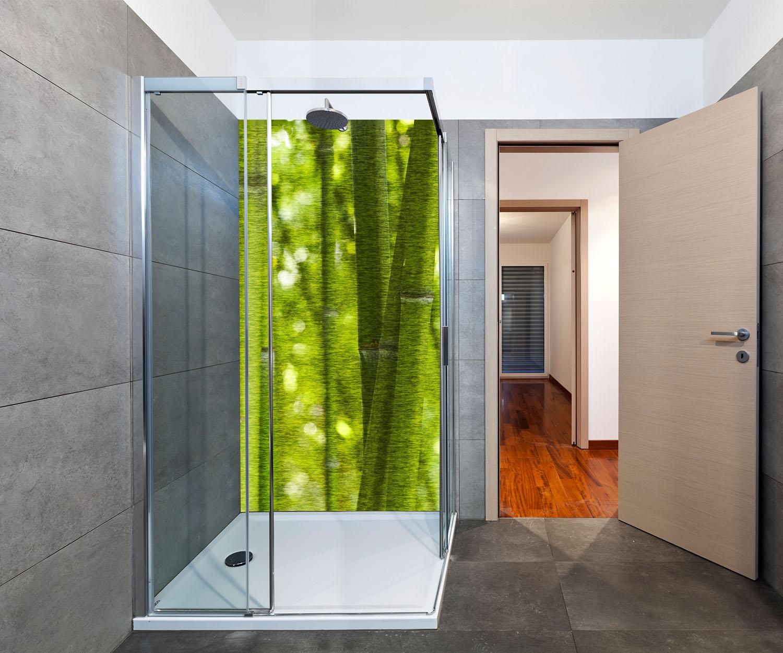 duschr ckwand bambus deko design ebay. Black Bedroom Furniture Sets. Home Design Ideas