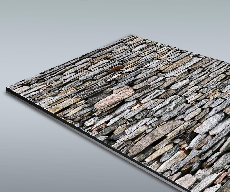 Duschr ckwand steinmauer grau deko design ebay for Design deko shop