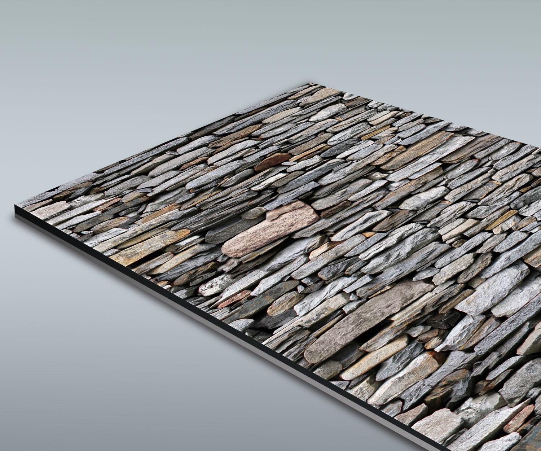 Duschr ckwand steinmauer grau deko design ebay for Deko design shop