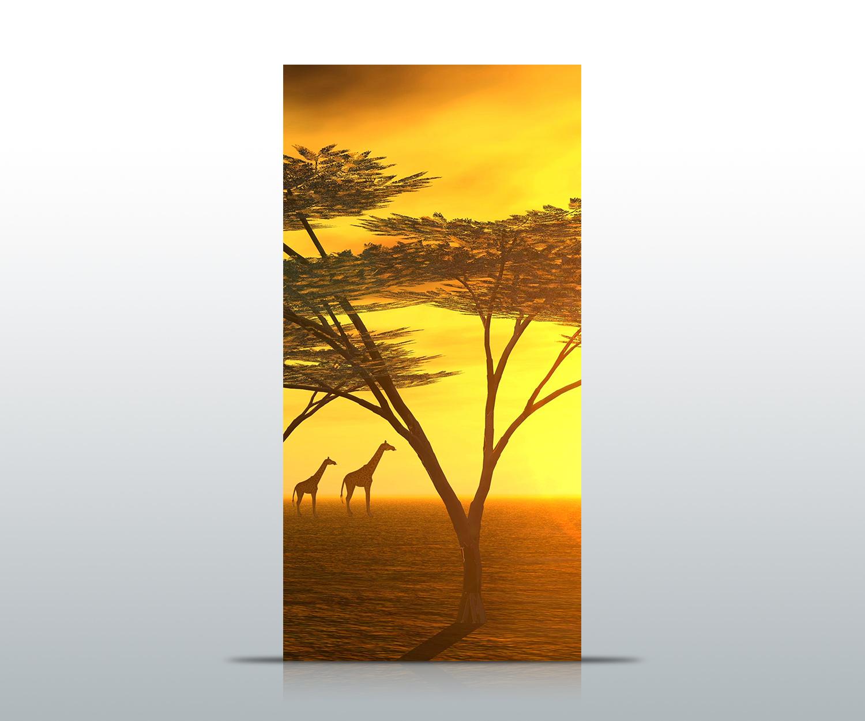 Tuertapete-Afrika-Tapete-Kunstdruck-Tuerbild