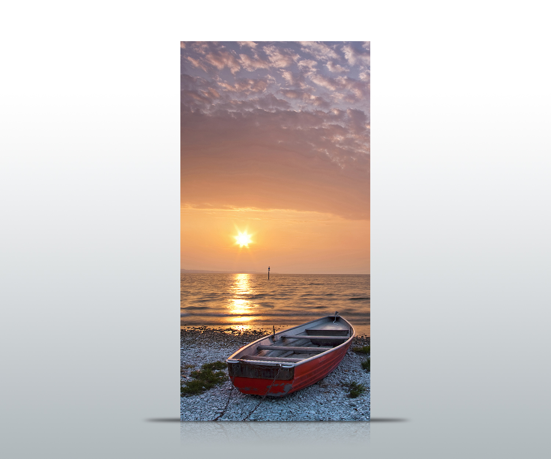 Türtapete Meer mit Boot Tapete Kunstdruck Türbild