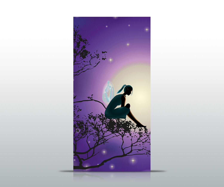 Türtapete Elfenmond Fantasy Tapete Kunstdruck Türbild