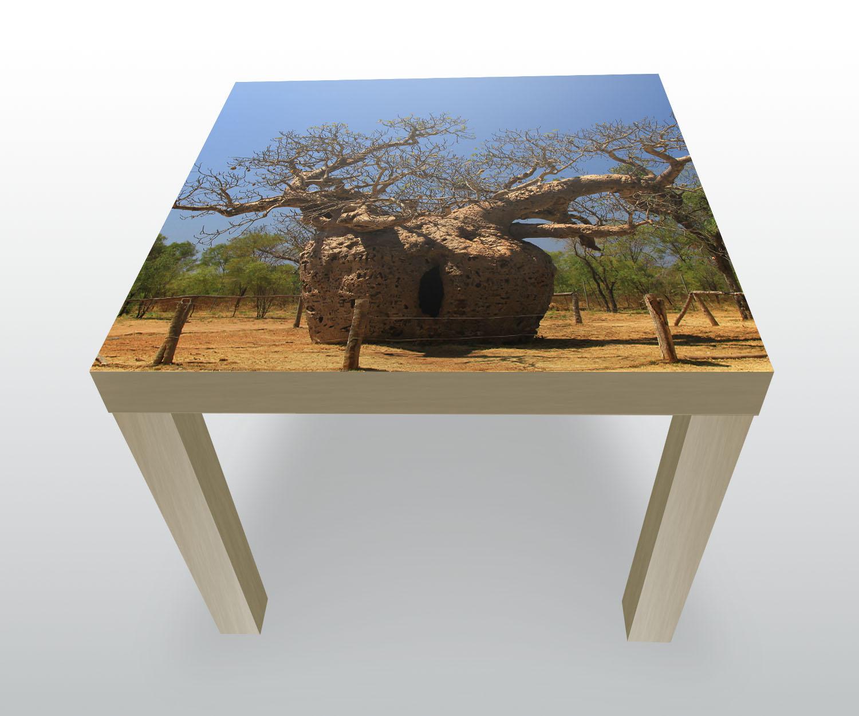 Beistelltisch affenbrotbaum natur designtisch ebay for Beistelltisch natur