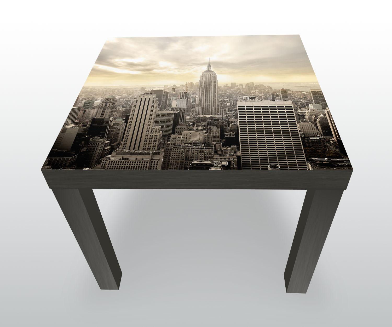 Beistelltisch new york skyline view designtisch ebay for Beistelltisch york