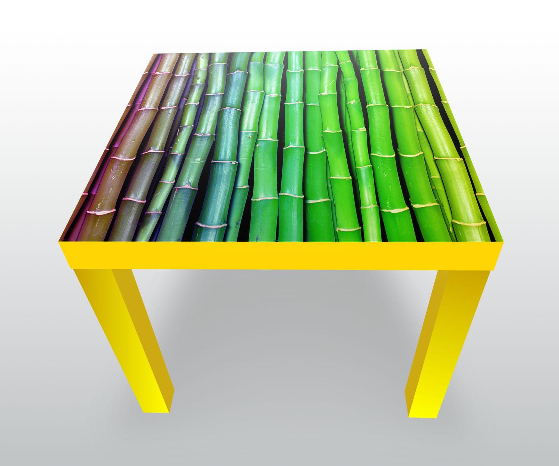beistelltisch bunter bambus asien designtisch ebay. Black Bedroom Furniture Sets. Home Design Ideas