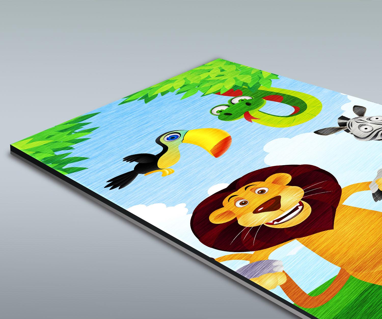 Duschr Ckwand Tiergruppe Kinder Deko Design Ebay