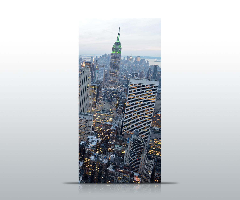 t rtapete new york skyview tapete kunstdruck t rbild ebay. Black Bedroom Furniture Sets. Home Design Ideas