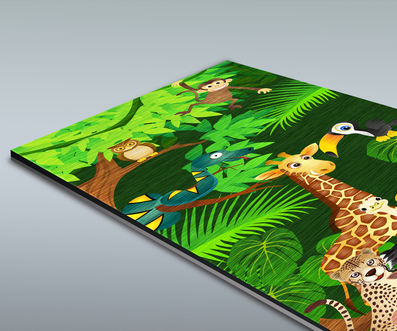 Duschr ckwand urwaldparty kinder deko design ebay for Design deko shop