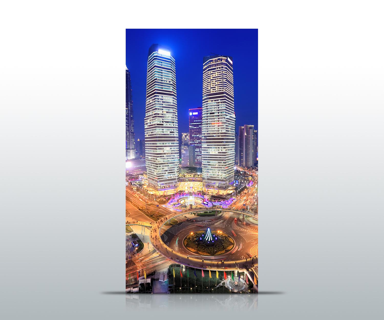 Türtapete Shanghai China Tapete Kunstdruck Türbild