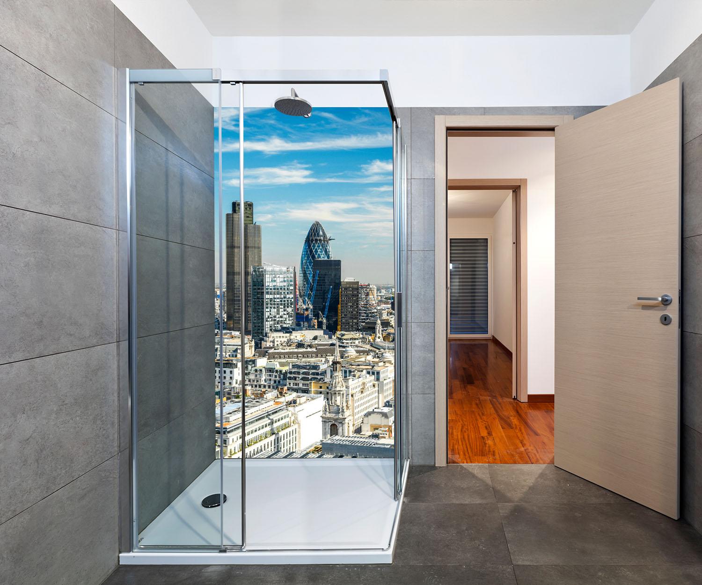 Duschr Ckwand Skyline London Deko Design Ebay