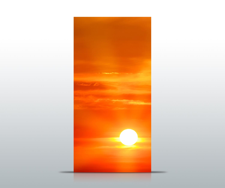 Türtapete Abendrot Meer Tapete Kunstdruck Türbild