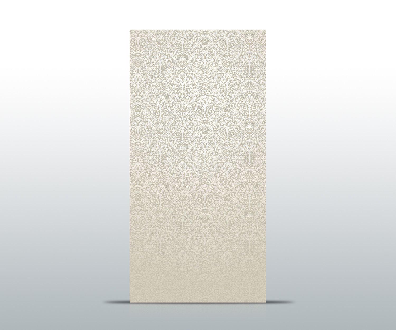 Türtapete Barockmuster Beige Tapete Kunstdruck Türbild