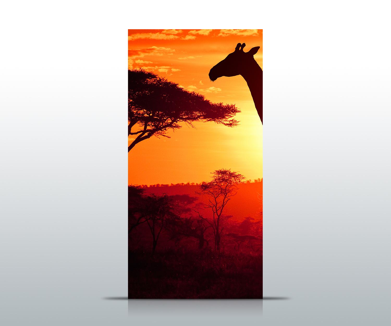 Türtapete African Sunset Tapete Kunstdruck Türbild