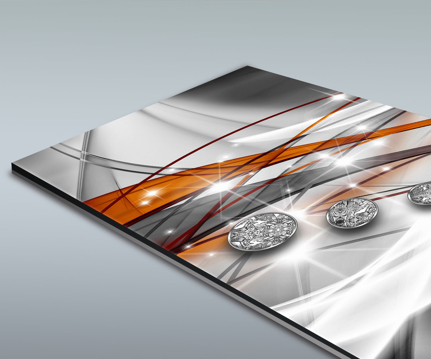 Duschr ckwand diamant orange deko design ebay for Deko design shop