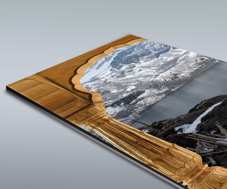 Duschr ckwand mit indischen s ulen verschneite for Design deko shop