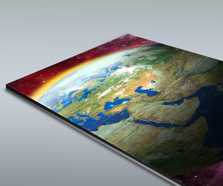 Duschrückwand Erde, Mond Und Sonne Deko Design
