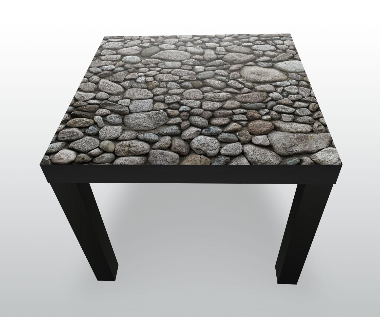 Beistelltisch runder natursteinmauer designtisch ebay for Runder beistelltisch