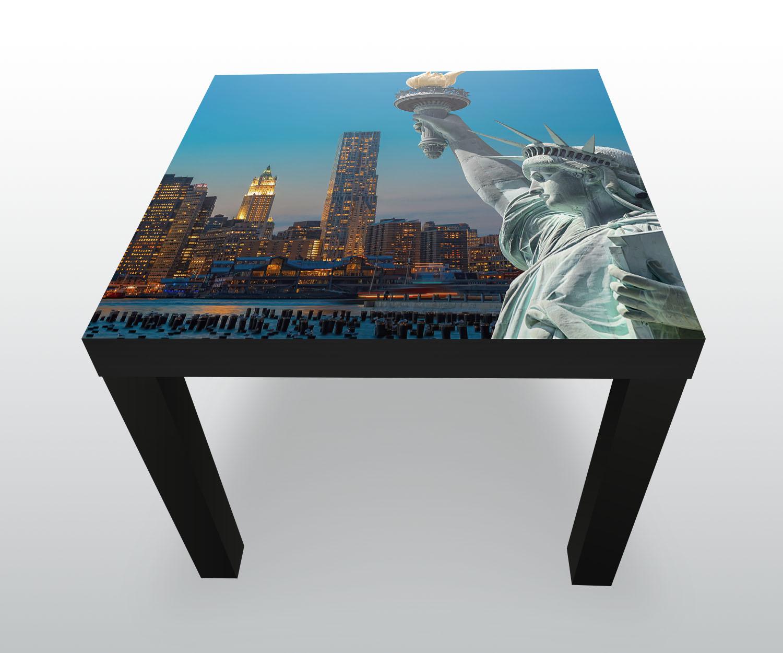 Beistelltisch new york skyline freiheitsstatue designtisch for Beistelltisch york