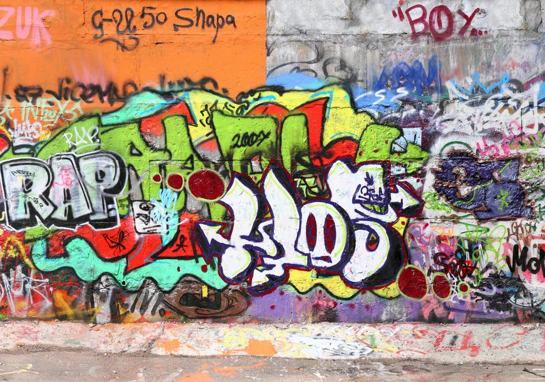 fototapete graffiti 2 tapete kunstdruck wandbild ebay. Black Bedroom Furniture Sets. Home Design Ideas