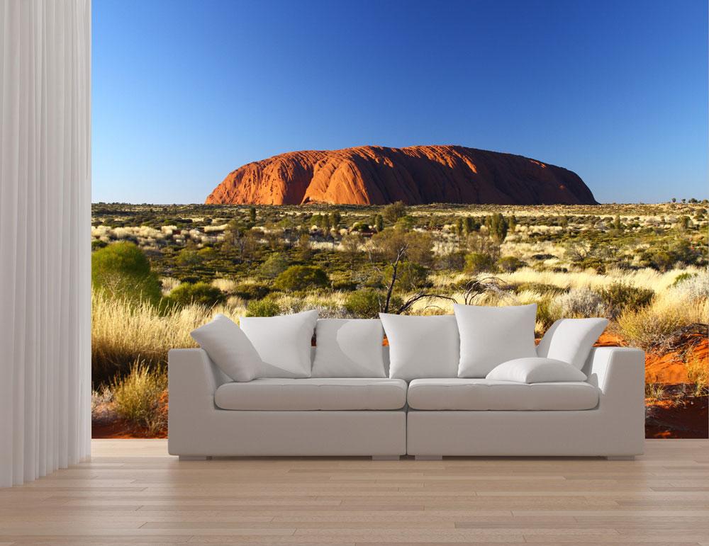 fototapete ayers rock sunrise tapete kunstdruck wandbild ebay. Black Bedroom Furniture Sets. Home Design Ideas