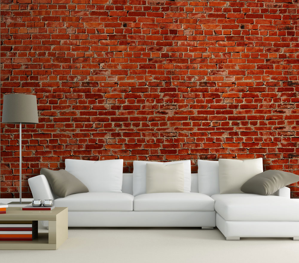 fototapete backstein rot stadt tapete kunstdruck wandbild. Black Bedroom Furniture Sets. Home Design Ideas