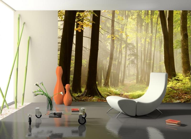 Fototapete waldweg  Fototapete Waldweg Tapete Kunstdruck Wandbild | eBay