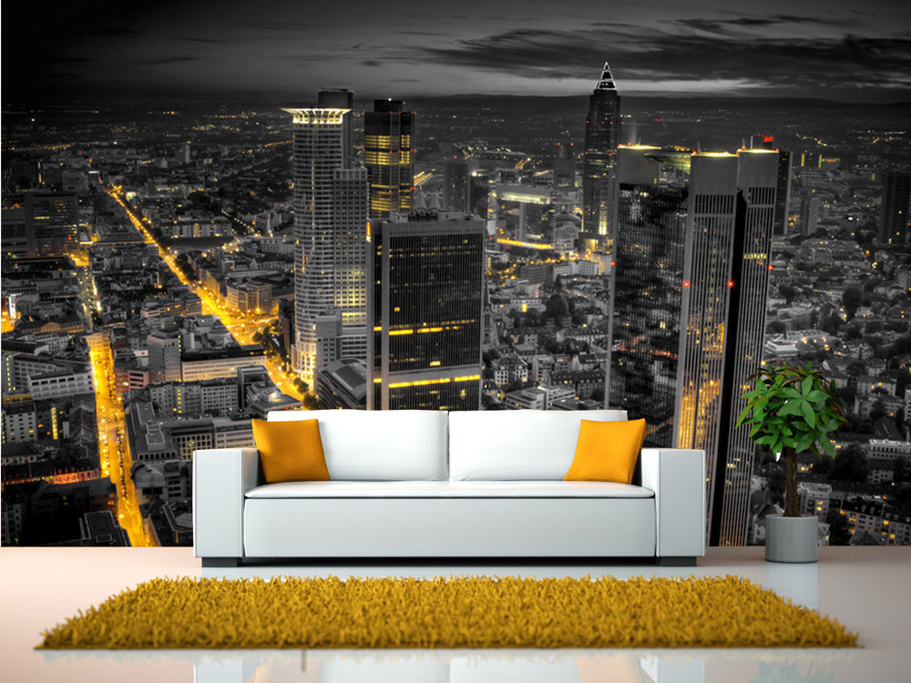 fototapete frankfurt am main tapete kunstdruck wandbild ebay. Black Bedroom Furniture Sets. Home Design Ideas