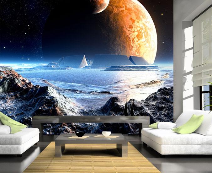 fototapete neuer planet tapete xxl wandbild vliestapete ebay. Black Bedroom Furniture Sets. Home Design Ideas