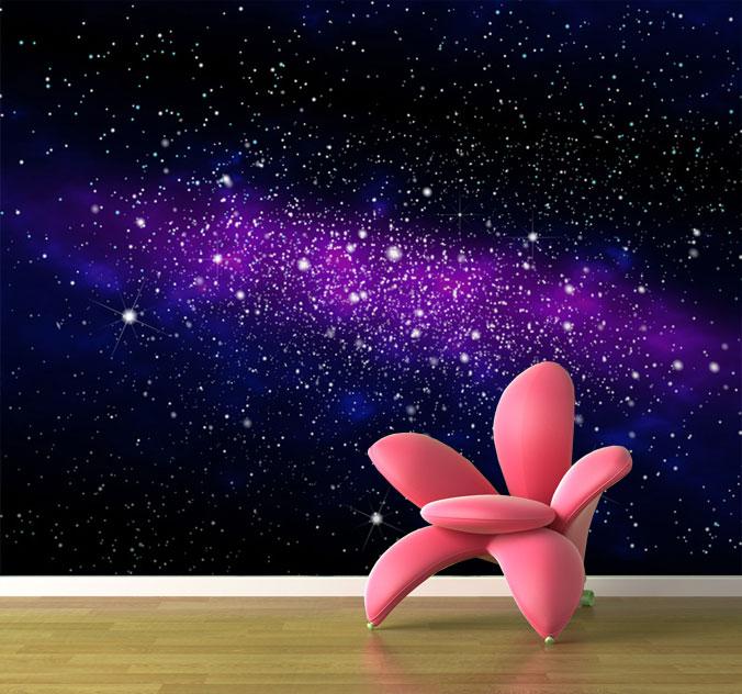 fototapete galaxie wandbild ebay. Black Bedroom Furniture Sets. Home Design Ideas