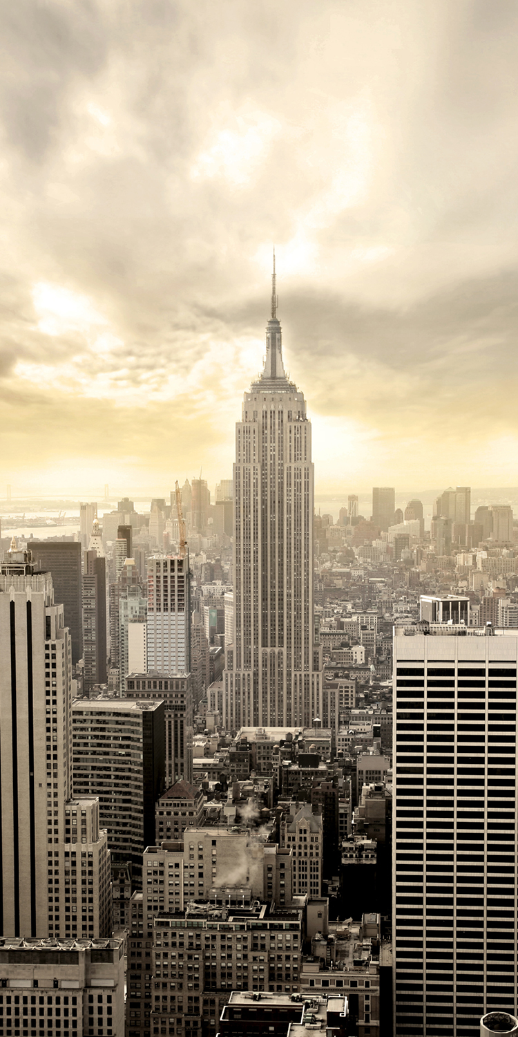 Fototapete new york skyline view tapete kunstdruck - Wandbild new york ...