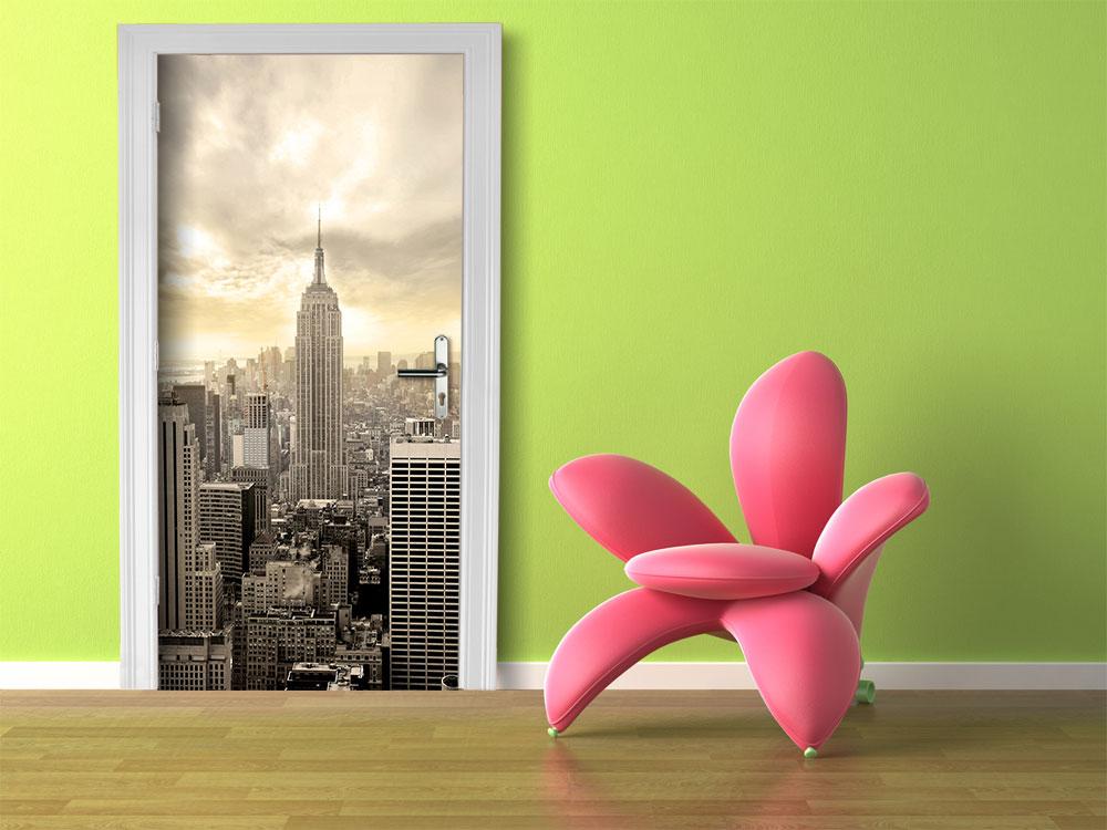 fototapete new york skyline view tapete kunstdruck. Black Bedroom Furniture Sets. Home Design Ideas